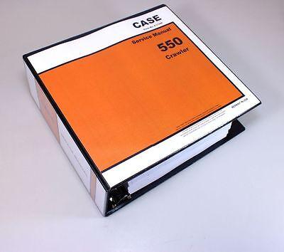 Case 550 Crawler Dozer Service Repair Manual Technical Shop Book Overhaul