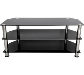 TV Stand (Black Glass) 3 Tier