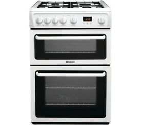 (new) HOTPOINT Ultima 60 cm HAG60P Gas Cooker - White
