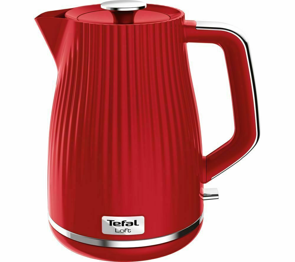 TEFAL Loft KO250540 Rapid Boil Traditional Kettle Red New