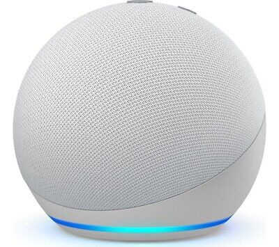 Amazon Echo Dot Glacier White (4th Generation) Smart Speaker With Alexa