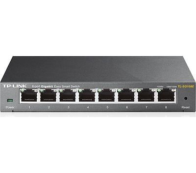 TP-LINK TL-SG108E Managed Network Switch  8-port Gigabit Ethernet (1000 Mbps)