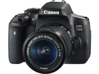 Canon EOS 750D DSLR almost new with 55-250mm STM & 50mm genuine lens & 16GB memo including carry bag