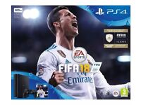 SONY PlayStation 4 Slim & FIFA 18 Sealed £250.00 FIXED 0203 556 6824