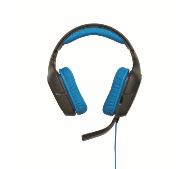 LOGITECH G430 Gaming Headset - Black & Blue - Skype compatible