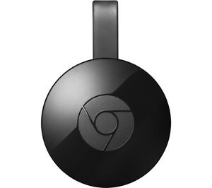 GOOGLE Chromecast 2015 WiFi  Media streamer HDMI Micro USB Windows 7 Black