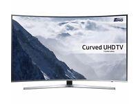 55'' SAMSUNG CURVED SMART 4K ULTRA HDR LED TV.UE5555KU6670.FREESAT HD. FREE DELIVERY/SETUP