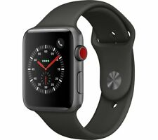 APPLE Watch Series 3 Cellular - 42 mm Space Grey & Grey (Sports Band)