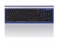 ADVENT Wireless Keyboard - Blue & Silver (NEW WITH BOX) AKBWLBL15