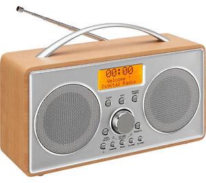 DAB+/FM Portable Radio Alarm Clock. LOGIK L55DAB15 incl. AC Power Supply 95 Sold