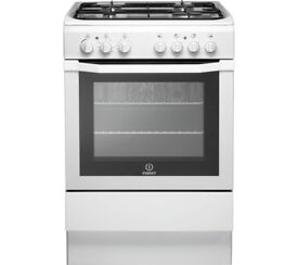 Indesit i6gg white 60cm gas cooker freestanding