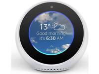 Brand New Sealed Amazon Echo Spot in white - Alexa speaker video screen