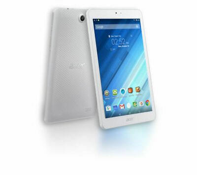 "ACER Iconia One Tablet-Quad-core 1.3 GHz 16 GB 8"" Android 5.1 White-GradeB"