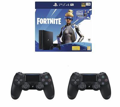 SONY PlayStation 4 Pro, Fortnite Neo Versa & 2 Wireless Controllers Bundle - 1TB