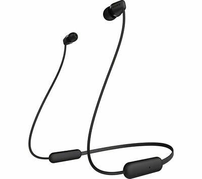 SONY WI-C200 IN-EAR WIRELESS BLUETOOTH 5.0 HEADPHONES RECHARGEABLE BLACK