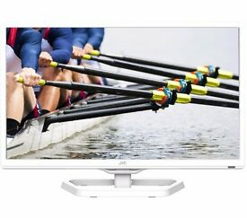 "New JVC LT-24C341 24"" LED TV with Built-in DVD Player White Was: £199.99"