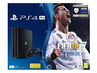 PlayStation 4 Pro with fifa 18 and TuRtle beach 800 elite headset