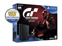 PlayStation 4 brand new with controller and gran turismo