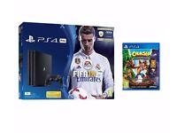 Brand New Playstation (1TB) 4 PRO + 2 games Fifa 18 Ronaldo Edition and Crash Bandicoot
