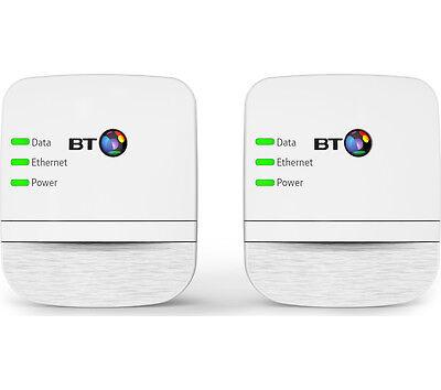 BT Broadband Extender 600 Powerline Adapter Kit Twin Pack White