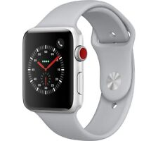 APPLE Watch Series 3 Cellular - 42 mm Silver & Fog (Sports Band)