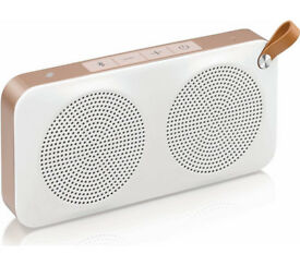 JVC portable wireless speaker with NFC Color white + gold