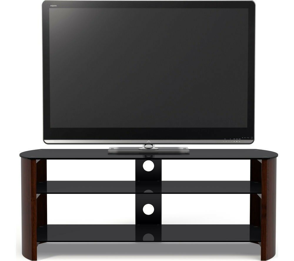 Tv Stand Sandstrom Wood Glass Curved Tv Stand Up To 55 In