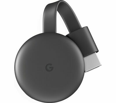 Google Chromecast (3rd Generation) Media Streamer - Black! NEW! UK STOCK!