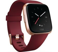 FITBIT Versa - Ruby & Rose Gold - Currys