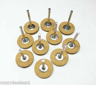 """10PCS Leather 1"""" Polishing Buffing Wheel Used With Dremel And All Rotary Tools"""