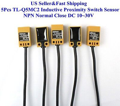 5pcs Tl-q5mc2 Inductive Proximity Switch Sensor Npn Normal Close Dc 1030v Us