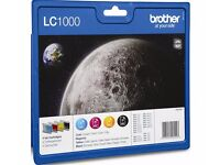 Genuine Brother LC1000 DCP MFC Black & Colour Ink Cartridge Multipack