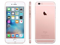 Apple iPhone 6s Rose Gold 16GB O2/GiffGaff, Brand New Condition, Box & Charger