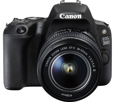 Canon EOS Rebel 200D / SL2 DSLR Camera with 18-55mm Lens (Black)