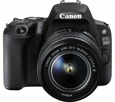 Canon EOS Rebel 200D / SL2 DSLR Camera with 18-55mm Lens