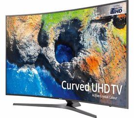 New 2017 Samsung 55MU6670 Top Model Full 4K UHD HDR ultra slim curved with warranty