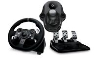 Logitech g290 racing wheel steering wheel pedals and shifter