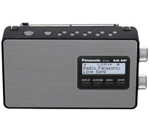 PANASONIC RF-D10EB-K Portable DAB+ Radio LCD Display Mains and Battery Black