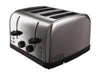 Russell Hobbs 4-Slice Toaster - Stainless Steel Silver