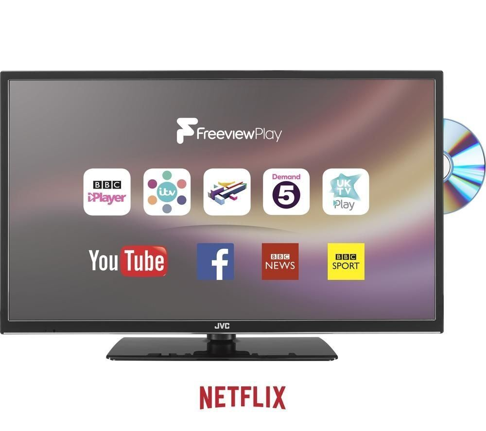 Jvc 40 Inch Lt40c755 Smart Tv With Dvd Player Built In