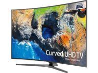 NEW 2017 SAMSUNG 65 Smart 4K UHD HDR CURVED 1700PQI LED FREESAT HD TV