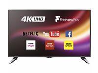 "JVC LT-49C860 Smart 4k Ultra HD 49"" LED TV A+ Freeview HD - Black"