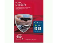 GENUINE MCAFEE LIVESAFE ANTI-VIRUS AND INTERNET SECURITY ALL IN ONE