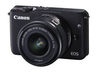 CANON EOS M10 Mirrorless Camera with 15-45 mm f/3.5-f/6.3 IS STM Wide-angle Zoom Lens - Black