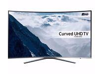 "SAMSUNG UE55KU6500 Smart 4k Ultra HD HDR 55"" Curved LED TV Boxed"