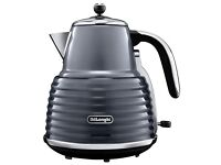 DELONGHI Scultura Jug Kettle Grey 360-degree rotational base