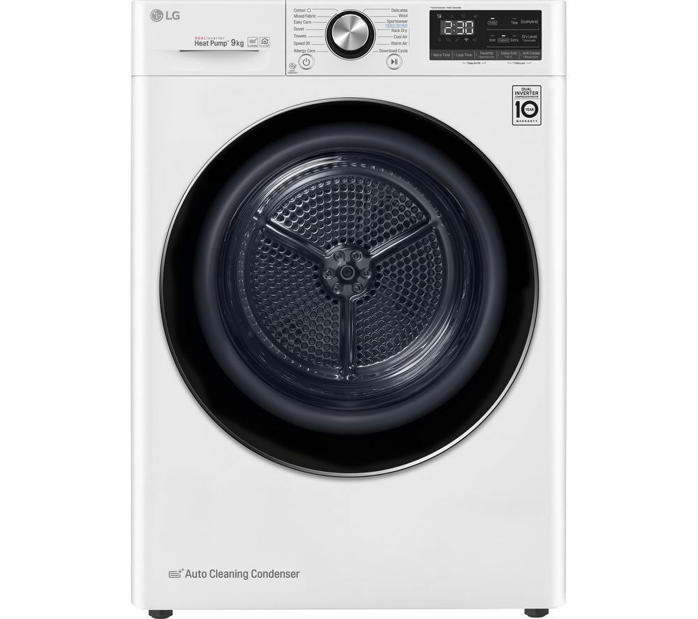 LG FDV909W WiFi-enabled 9 kg Heat Pump Tumble Dryer - White (TD335)