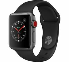 APPLE Watch Series 3 Cellular - Black, 38 mm
