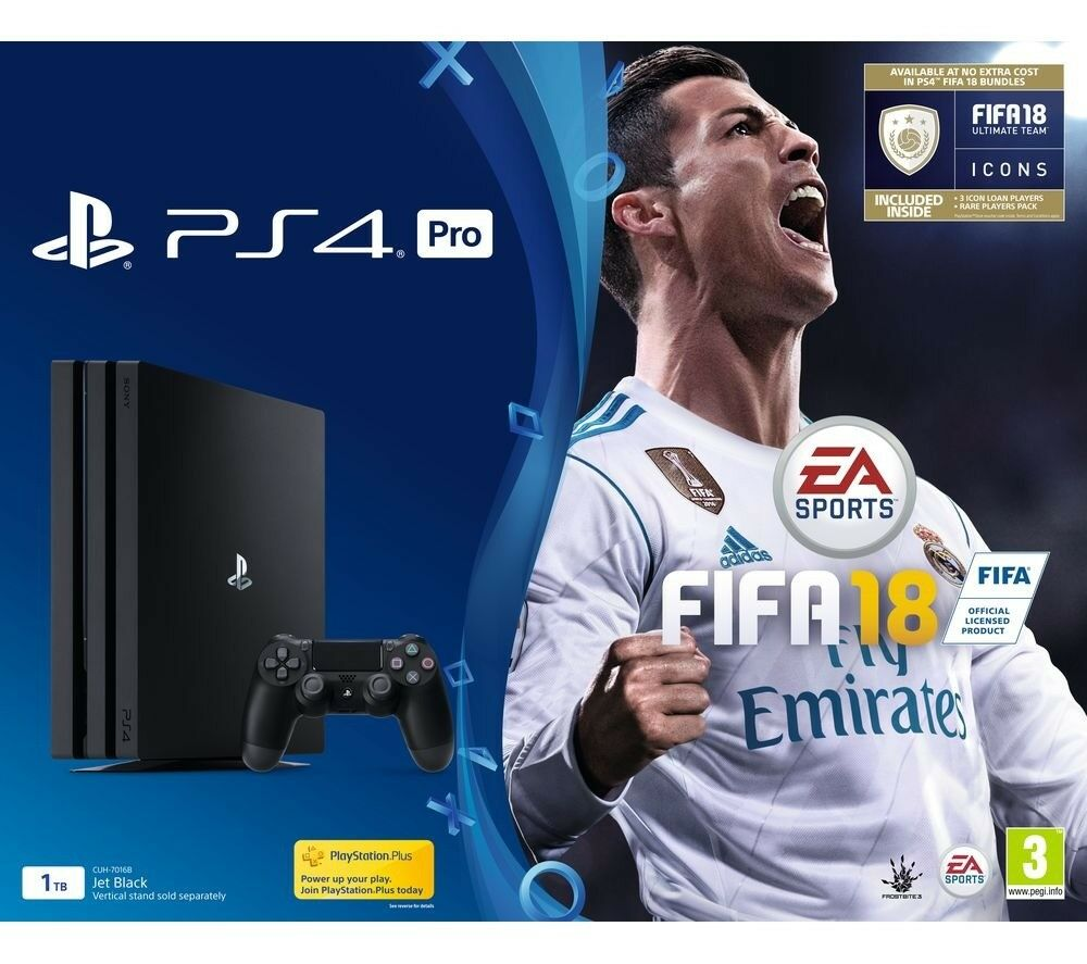 Playstation 4 (PS4) Pro - inc. Fifa 18 - brand new and sealed