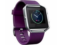 Fitbit blaze fitness tracker plum colour